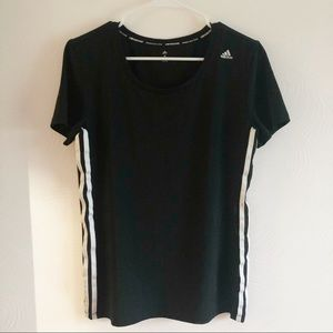 Adidas black and white climacool shirt sz Med